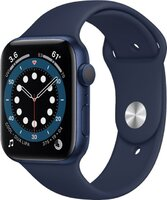 Apple Watch Series 6 GPS 44mm Blue Aluminium Case with Deep Navy Sport Band (M00J3)
