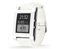 Pebble Watch Arctic White
