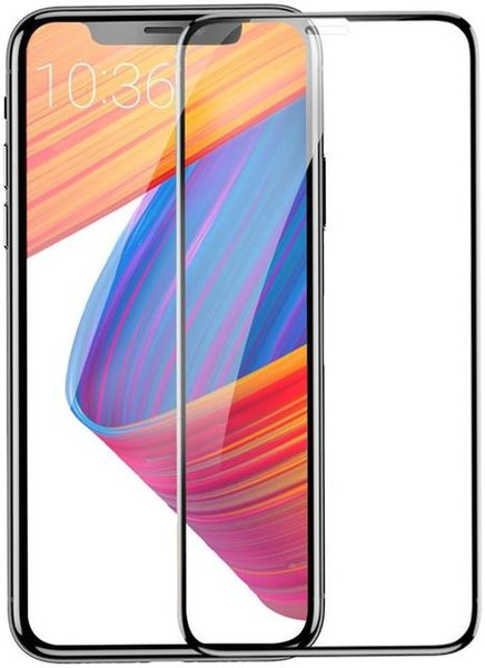 Защитное стекло Baseus 0.2mm All-screen Arc-surface Tempered Glass Film для Apple iPhone X/Xs - Black (SGAPIPHX-TN01)