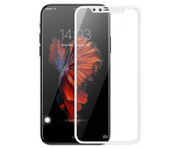 Защитное стекло для iPhone X - Baseus Silk-Screen Tempered Glass Film 0.2mm - White