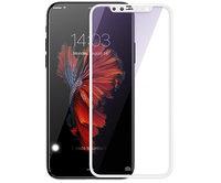 Защитное стекло для iPhone X - Baseus Silk-Screen 3D Arc Tempered Glass Film 0.3mm - White