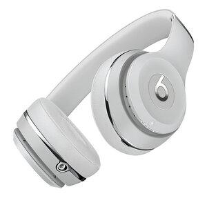 Беспроводные накладные наушники Beats by Dr.Dre Solo 3 Wireless - Satin Silver (MX452) - фото 5