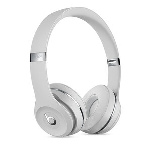 Беспроводные накладные наушники Beats by Dr.Dre Solo 3 Wireless - Satin Silver (MX452) - фото 1