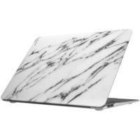 "Чехол-накладка для MacBook Air 13"" (2018) LAUT белый мрамор (LAUT_13MA18_HXE_MW)"
