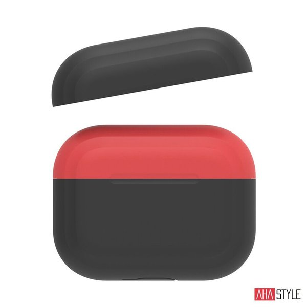 Чехол AHASTYLE Two Color Silicone Case for Apple AirPods Pro – Black/Red (AHA-0P200-BBR)