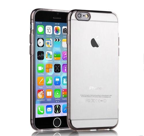 Чехол-накладка для iPhone 6 Plus - Silicone Case - Clear-Gray