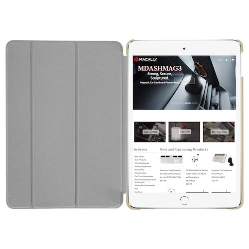 Чехол-подставка для iPad mini 5 (2019) - Macally Protective Case and Stand - Gold (BSTANDM5-GO)