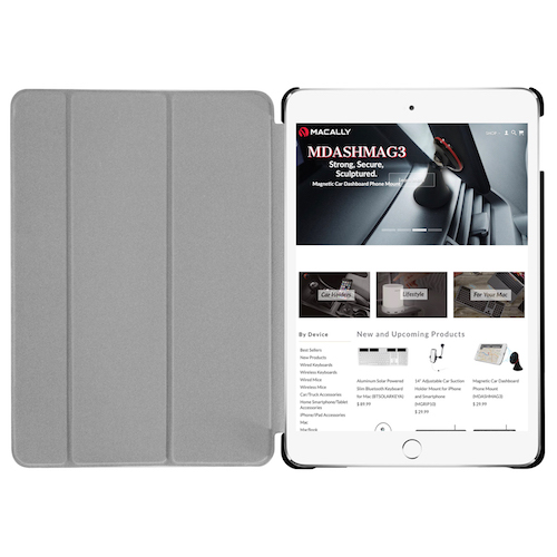 Чехол-подставка для iPad mini 5 (2019) - Macally Protective Case and Stand - Black (BSTANDM5-B)