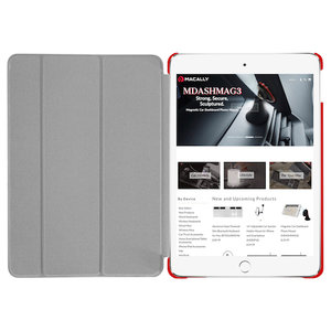 Чехол-подставка для iPad mini 5 (2019) - Macally Protective Case and Stand - Red (BSTANDM5-R) - фото 3