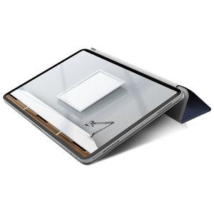 "Чехол-подставка для iPad Pro 12.9"" (2018) - Macally Smart Folio - Blue (BSTANDPRO3L-BL) - фото 3"
