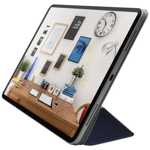 "Чехол-подставка для iPad Pro 12.9"" (2018) - Macally Smart Folio - Blue (BSTANDPRO3L-BL)"