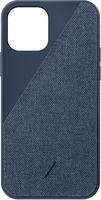 Чехол-накладка для iPhone 12/12 Pro - Native Union Clic Canvas Case Indigo (CCAV-IND-NP20M)