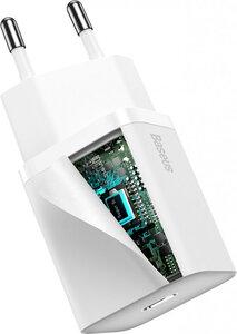 Сетевое з/у Baseus Super Silicone PD Charger 20W (1Type-C) - White (CCSUP-B02) - фото 2