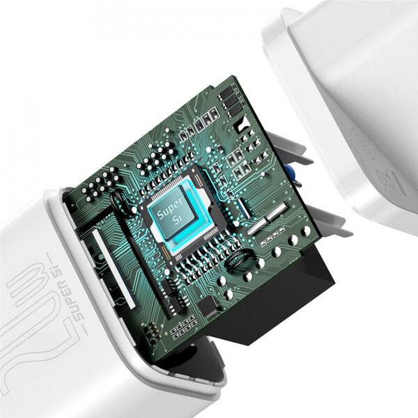 Сетевое з/у Baseus Super Silicone PD Charger 20W (1Type-C) - White (CCSUP-B02)