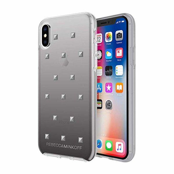 Чехол Incipio Design Series Rebecca Minkoff for iPhone XS - Gunmetal Pyramid Studs/Black Ombre
