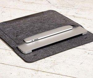 "Чехол-конверт на кнопках Gmakin для MacBook Air 13"", Pro 13"" и Pro 13"" Retina Black (GM01) - фото 2"