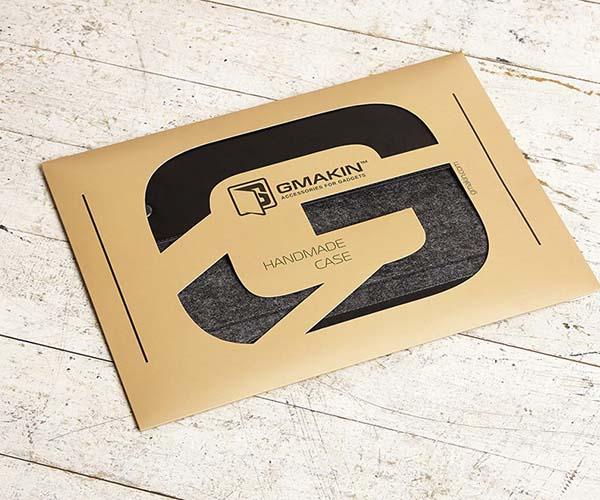 "Чехол-конверт на кнопках Gmakin для MacBook Air 13"", Pro 13"" и Pro 13"" Retina Black (GM01)"