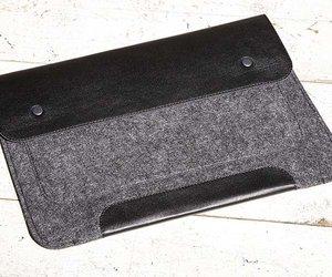 "Чехол-конверт на кнопках Gmakin для MacBook Air 13"", Pro 13"" и Pro 13"" Retina Black (GM01) - фото 1"