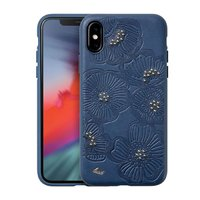 Чехол-накладка для iPhone X/XS - LAUT FLORA - Blue (LAUT_IP18-S_FL_BL)