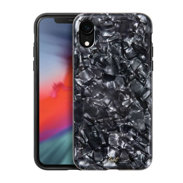 Чехол-накладка для iPhone XR - LAUT PERAL - Black (LAUT_IP18-M_PL_BK)