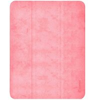 "Чехол Comma для iPad Pro 12.9"" [2020] Leather Case with Pen Holder Series (Pink)"