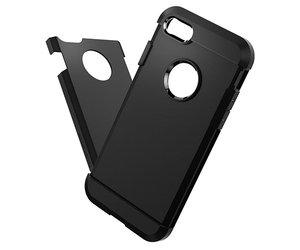 Чехол-накладка для  iPhone 7/8/SE - Spigen Tough Armor - Black (SGP-042CS20491) - фото 3