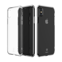 Чехол Baseus Simple Series Case (With Pluggy TPU) for iPhone X Transparent (ARAPIPHX-A02)