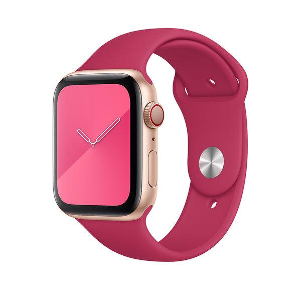 Ремешок для Apple Watch 42/44 mm - Apple Sport Band - S/M & M/L - Dragon Fruit (MV782)