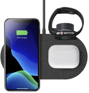Беспроводная зарядка Native Union Drop XL Watch Wireless Charger Fabric Slate (DROP-XL-GRY-AW-UEU) - фото 1