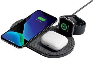 Беспроводная зарядка Native Union Drop XL Watch Wireless Charger Fabric Slate (DROP-XL-GRY-AW-UEU)