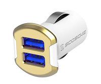 Автомобильное зарядное устройство Scosche ReVolt Dual USB 12W - Gold (USBC242MGD)