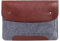 """Чехол-конверт для Macbook 13"""" New коричневый на кнопках (GM02-13New)"""