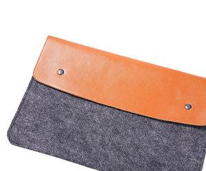 "Чехол-конверт на кнопках Gmakin для MacBook Air 13"" и Pro 13"" Brown (GM03) - фото 1"