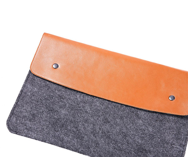 """Чехол-конверт на кнопках Gmakin дляMacBook Air 13"""" и Pro 13"""" коричневый (GM03)"""