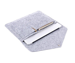 "Чехол-конверт на кнопке Gmakin для MacBook Air 13"" и Pro 13"" Gray (GM07) - фото 1"