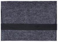 """Чехол-конверт Gmakin для Macbook 15/16"""" горизонтальный темный войлочный (GM14-15/16)"""