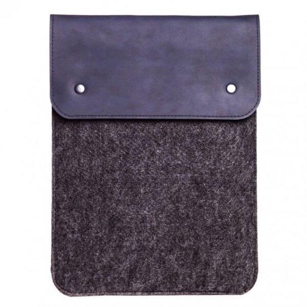 Вертикальный чехол Gmakin для Macbook Pro 13 New синий с черным (GM66-13New)