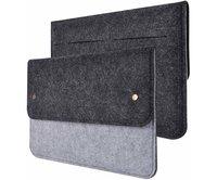 """Чехол-конверт Gmakin для MacBook Air 13"""" и Pro 13"""" черно-серый (GM05)"""