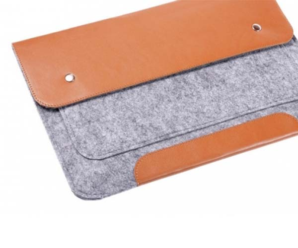 "Чехол-конверт на кнопках Gmakin для MacBook Air 13"" и Pro 13"" Brown (GM02)"