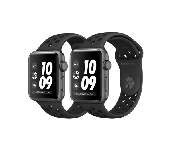 Apple Watch Nike+ Series 3 (GPS) 38mm Space Gray Aluminum w. Anthracite/Black Sport B. (MQKY2)