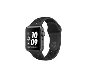 Apple Watch Series 3 Nike+ (GPS) 38mm Space Gray Aluminium w. Anthracite/Black Nike Sport B. (MTF12)
