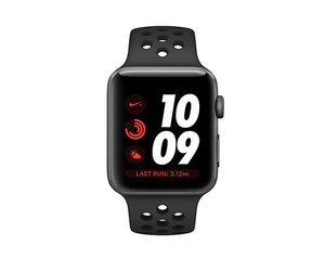 Apple Watch Series 3 Nike+ (GPS) 42mm Space Gray Aluminum w. Anthracite/Black Nike Sport B.(MTF42) - фото 1