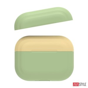 Чехол AHASTYLE Two Color Silicone Case for Apple AirPods Pro – Green/Yellow (AHA-0P200-GGY)