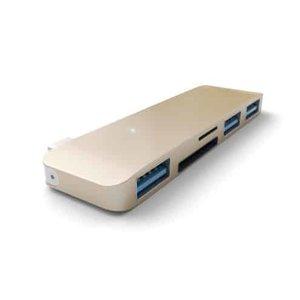 Хаб Satechi Type-C USB 3.0 3-in-1 Combo Hub Gold (ST-TCUHG)