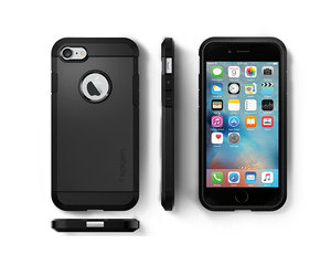 Чехол-накладка для  iPhone 7/8/SE - Spigen Tough Armor - Black (SGP-042CS20491) - фото 1