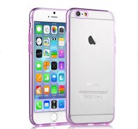 Чехол-накладка для iPhone 6 - Silicon Case - Clear-Pink