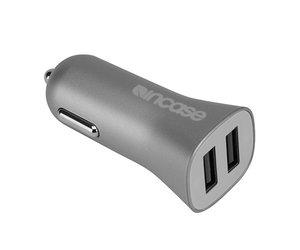 Автомобильное зарядное устройство Incase High Speed Dual Car Charger - Metallic Gray (CL90037) - фото 2