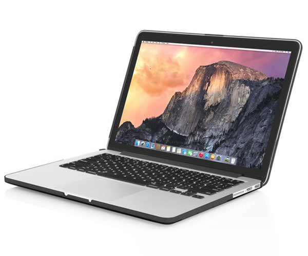"Чехол-накладка для MacBook Pro Retina 13"" Incipio Feather - Translucent Black (IM-292-BLK)"