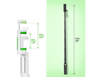 Селфи-монопод iOttie MiGo mini Selfie Stick - White (HLMPIO120WH) - фото 3