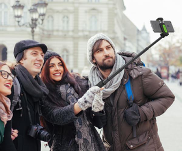 Селфи-монопод iOttie MiGo Selfie Stick - Black (HLMPIO110BK)